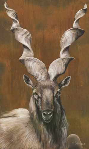 Mighty Markhor art print by Britt Hallowell for $47.50 CAD