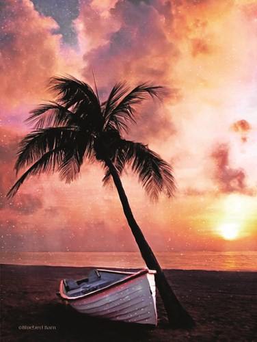 Palm Tree Sunset art print by Bluebird Barn for $41.25 CAD