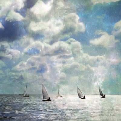 Sailing White Waters art print by Bluebird Barn for $48.75 CAD