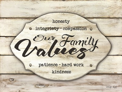 Our Family Values art print by Cindy Jacobs for $41.25 CAD