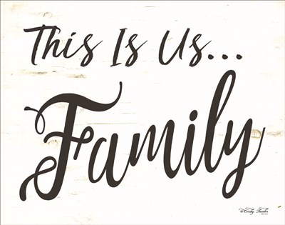This is us - Family art print by Cindy Jacobs for $36.25 CAD