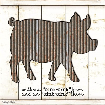 Metal Pig art print by Cindy Jacobs for $35.00 CAD