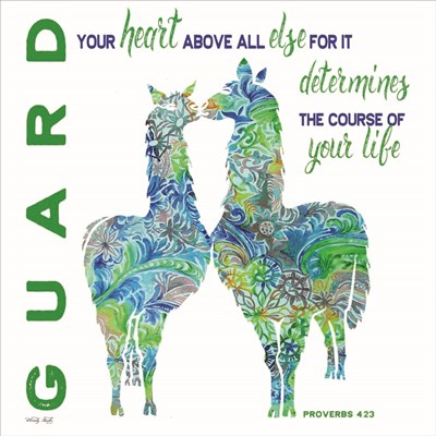 Guard Your Heart Llamas art print by Cindy Jacobs for $56.25 CAD