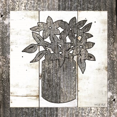 Galvanized Floral art print by Cindy Jacobs for $56.25 CAD