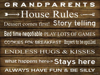 Grandparents House Rules art print by Cindy Jacobs for $41.25 CAD