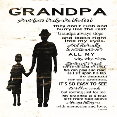 My Grandpa is the Best art print by Cindy Jacobs for $56.25 CAD