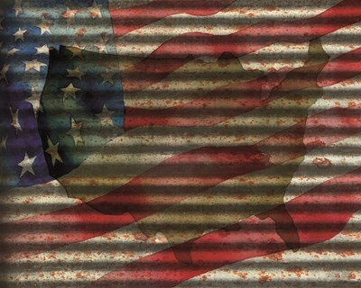 American Flag on Metal art print by Cindy Jacobs for $56.25 CAD