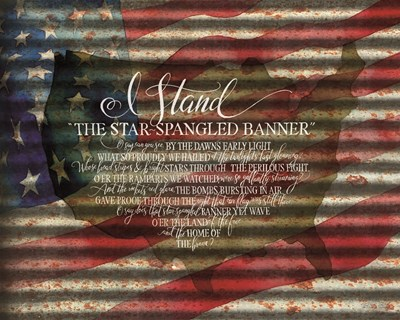I Stand American Flag on Metal art print by Cindy Jacobs for $56.25 CAD