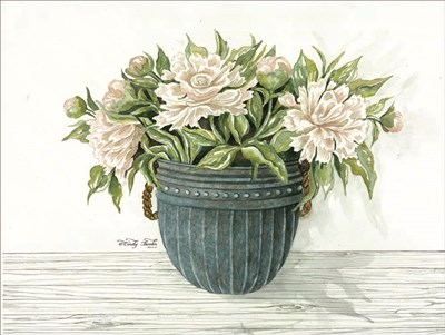 Galvanized Pot Peonies art print by Cindy Jacobs for $41.25 CAD
