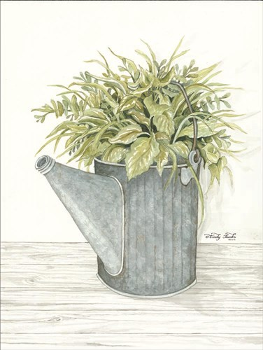 Galvanized Watering Can art print by Cindy Jacobs for $41.25 CAD