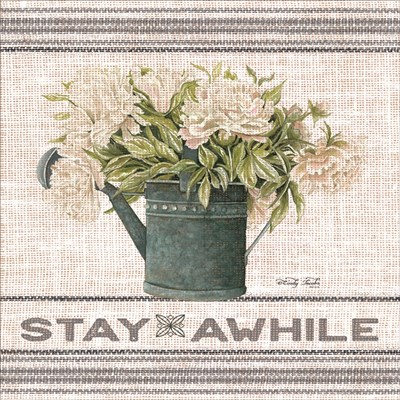Galvanized Peonies Stay Awhile art print by Cindy Jacobs for $41.25 CAD