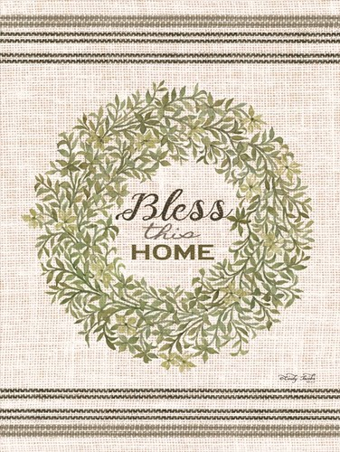 Bless This Home Wreath art print by Cindy Jacobs for $41.25 CAD