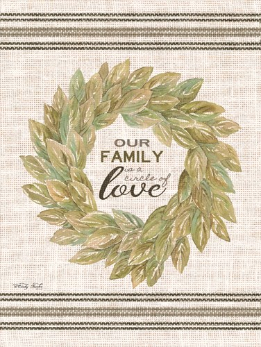 Our Family Wreath art print by Cindy Jacobs for $41.25 CAD