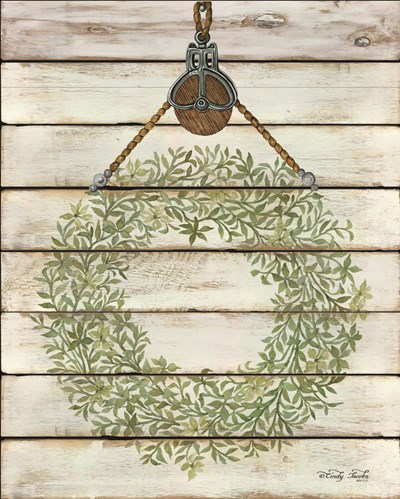 Pully Hanging Wreath art print by Cindy Jacobs for $56.25 CAD