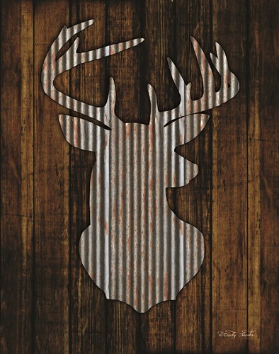 Deer Head I art print by Cindy Jacobs for $40.00 CAD