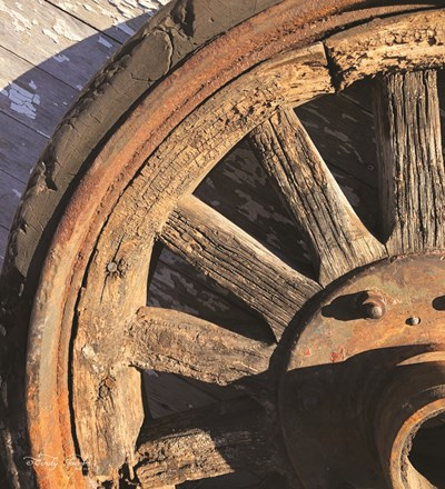 Old Wheel I art print by Cindy Jacobs for $36.25 CAD