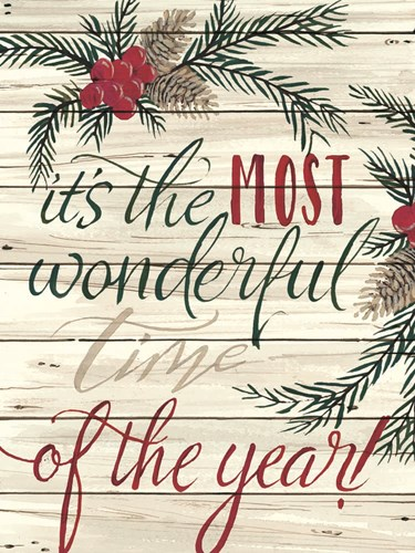 It's the Most Wonderful Time Shiplap art print by Cindy Jacobs for $41.25 CAD