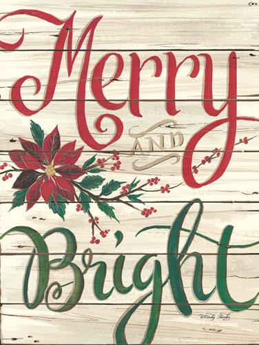 Merry & Bright Shiplap art print by Cindy Jacobs for $41.25 CAD