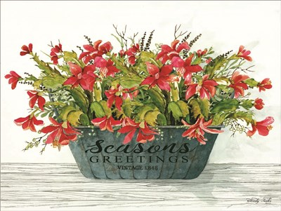 Seasons Greetings Pot art print by Cindy Jacobs for $41.25 CAD