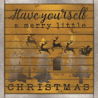 Have Yourself a Merry Little Christmas art print by Cindy Jacobs for $35.00 CAD