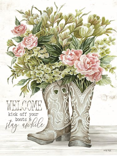 Welcome Kick Off Your Boots art print by Cindy Jacobs for $41.25 CAD