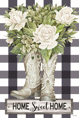Home Sweet Home Cowboy Boots art print by Cindy Jacobs for $43.75 CAD