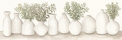 White Vases Still Life art print by Cindy Jacobs for $67.50 CAD