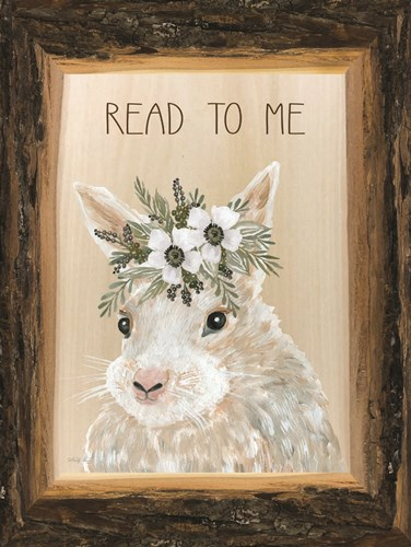 Read to Me Bunny art print by Cindy Jacobs for $41.25 CAD