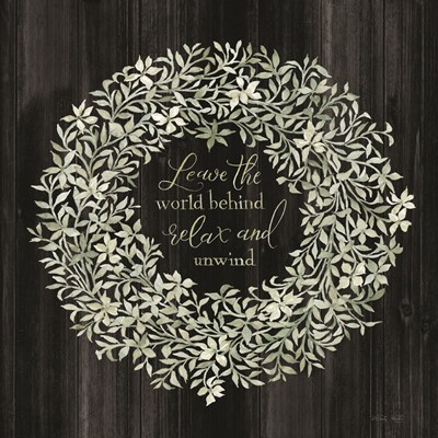 Leave the World Behind Wreath art print by Cindy Jacobs for $48.75 CAD