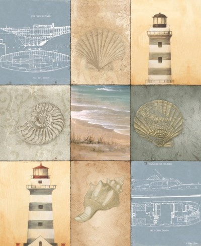 Coast Panels art print by Dee Dee for $55.00 CAD
