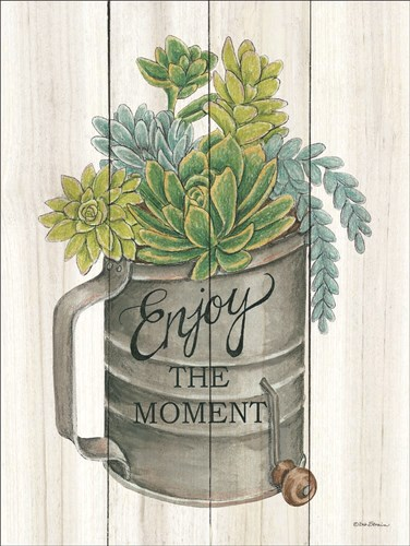 Enjoy the Moment Succulents art print by Deb Strain for $41.25 CAD