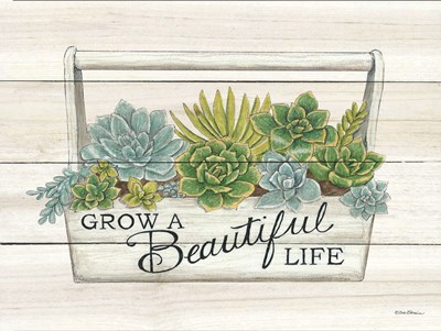 Beautiful Life Succulents art print by Deb Strain for $41.25 CAD