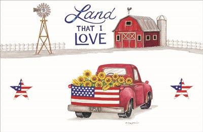 Land That I Love art print by Deb Strain for $37.50 CAD