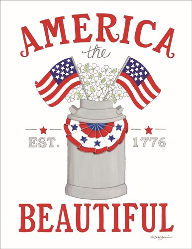 America the Beautiful art print by Deb Strain for $40.00 CAD