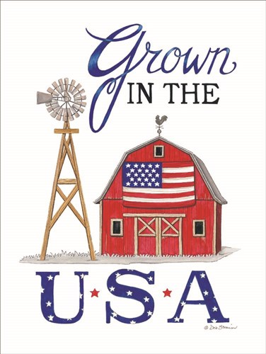 Grown in the U.S.A. art print by Deb Strain for $41.25 CAD