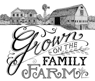 Grown on the Family Farm art print by Deb Strain for $45.00 CAD