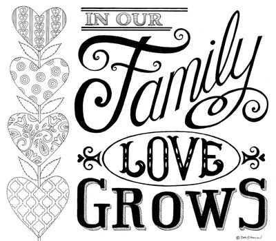 In Our Family Love Grows art print by Deb Strain for $45.00 CAD