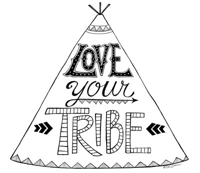 Love Your Tribe art print by Deb Strain for $45.00 CAD