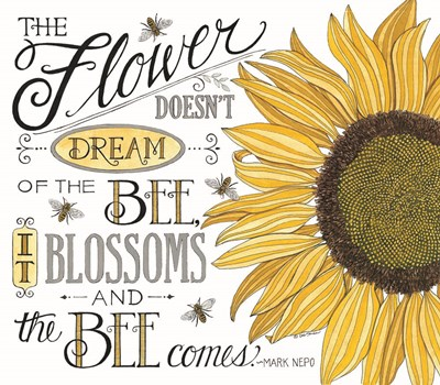 The Bee Comes art print by Deb Strain for $45.00 CAD