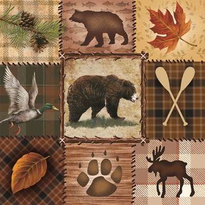 Wildlife Icons art print by Ed Wargo for $35.00 CAD