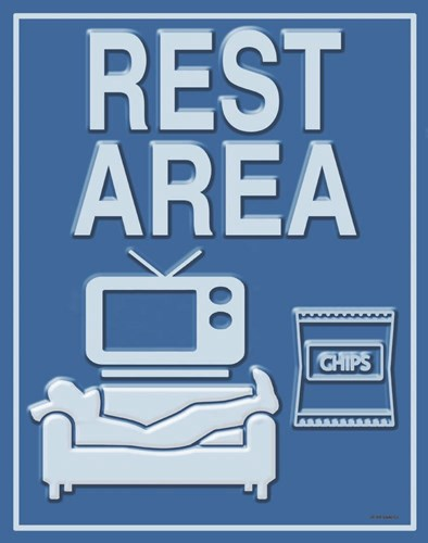 Rest Area art print by Ed Wargo for $40.00 CAD