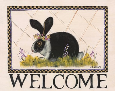 Bunny Welcome art print by Lisa Hilliker for $36.25 CAD
