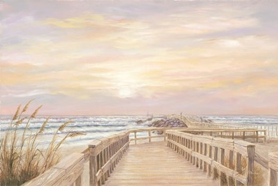 Ponce Inlet Jetty Sunrise art print by Georgia Janisse for $43.75 CAD