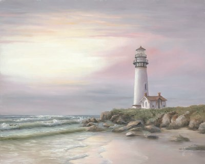 Lighthouse at Sunset art print by Georgia Janisse for $56.25 CAD