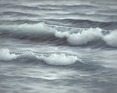 Waves art print by Georgia Janisse for $56.25 CAD
