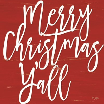 Merry Christmas Y'all art print by Jaxn Blvd for $56.25 CAD