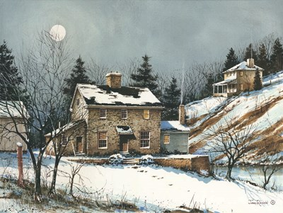 A February Evening art print by John Rossini for $41.25 CAD