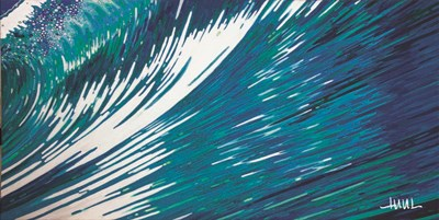 Rising Blue Cosmic Wave art print by Margaret Juul for $52.50 CAD
