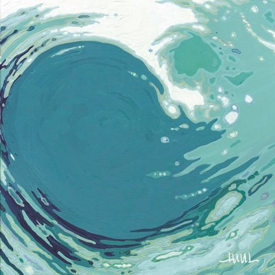Circling Wave I art print by Margaret Juul for $35.00 CAD