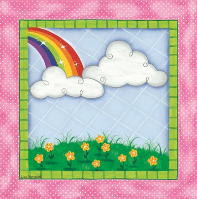 Rainbow & Clouds art print by Lisa Kennedy for $35.00 CAD